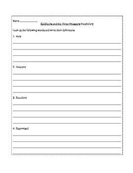 Goldilocks and the Three Dinosaurs Worksheets