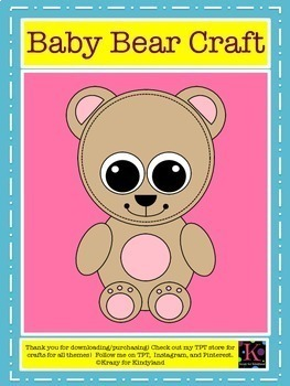 Goldilocks and the Three Little Bears Craft Pack
