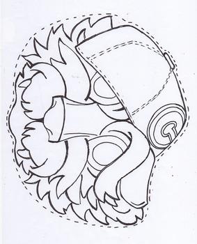Goldilocks and the three Bears/mask pack/BLACK LINE MASTER
