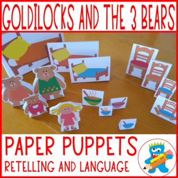 Goldilocks and the three bears templates to work the story.  Paper puppets.