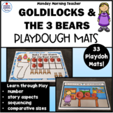 Goldilocks & the 3 Bears Playdough Mat Activities Numbers