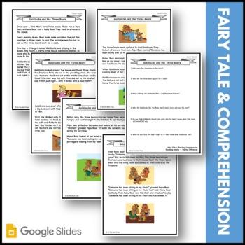 Goldilocks & the Three Bears Fairy Tale Literacy Building Lesson Gr. 1-3