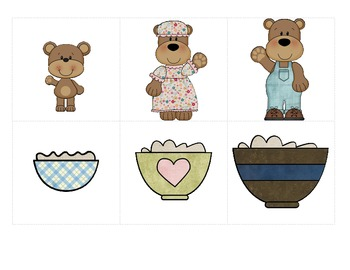 Goldilocks & the Three Bears - Story Elements, Sequencing, Retelling