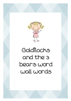 Goldilocks word wall