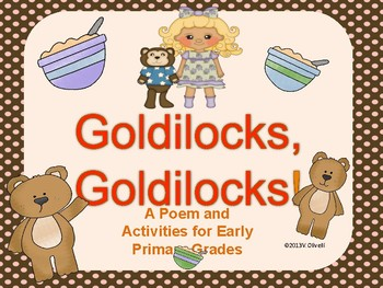 "ESL Activity: Vocabulary/Literacy Skills ""Goldilocks,Goldilocks""+ELL Newcomers"