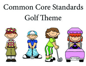 Golf 1st grade English Common core standards posters