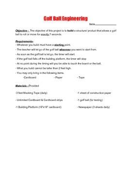 Golf Ball Roller Coaster Challenge