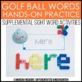 Golf Ball Words - Sight Word Fine Motor Practice