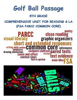 Golf Balls 5 day Common Core Lesson w Visual Literacy Poet