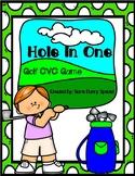 Golf CVC Hole in One Card Game