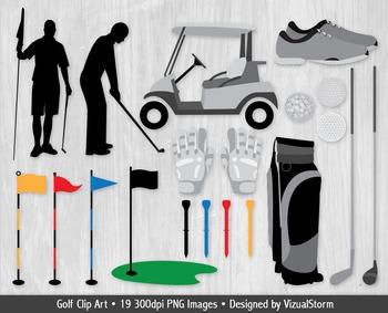 Golf Clip Art - 19 Hand Drawn Golfing Sports Illustrations