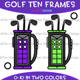 Golf Clip Art - Golf Bag Ten Frames {jen hart Clip Art}
