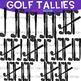 Golf Clip Art -Golf Club Tally Marks {jen hart Clip Art}