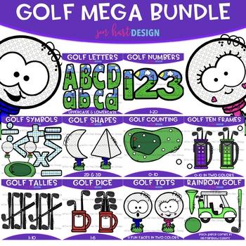 Golf Clip Art - Golf Mega Growing BUNDLE {jen hart Clip Art}