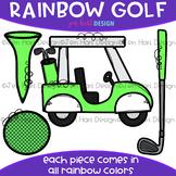 Golf Clip Art - Rainbow Golf Clipart {jen hart Clip Art}