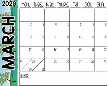 Golf Desk Calendar