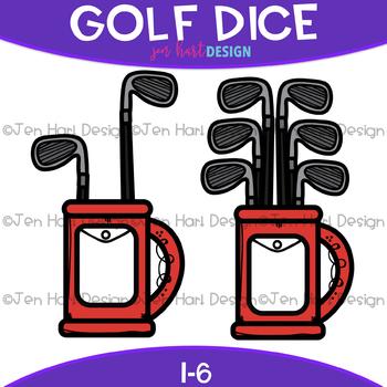 Golf Dice Clip Art: Golf Bag Dice 1-6 {jen hart Clip Art}