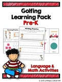 Golfing Learning Pack for PreKinders