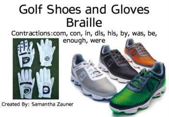 Golf Shoes and Gloves Braille Game