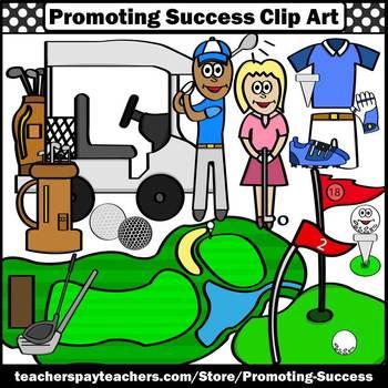 Golf Clip Art, Summer Clipart, Golfing Theme, Summer Sports SPS