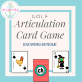 Golf: The Articulation Card Game **Growing Bundle**