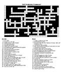 Golf Vocabulary Word Search and  Masters Champions Crossword with KEYS