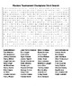 Golf Vocabulary Word Search and  Masters Champions Crosswo