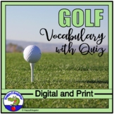 Golf Vocabulary and Quiz