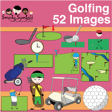 Golfing Clipart Set: High-resolutions png
