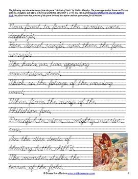 Goliath of Gath by Phillis Wheatley (Excerpt)-Cursive Copywork