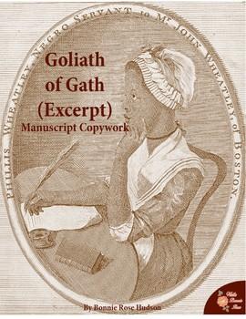 Goliath of Gath by Phillis Wheatley (Excerpt)-Manuscript Copywork