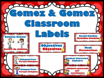 Gomez and Gomez Classroom Labels