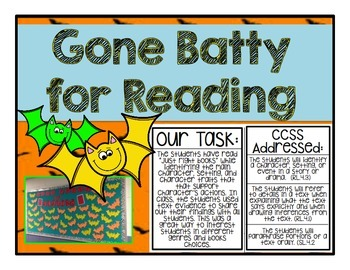 Gone Batty for Reading, Fall Themed Reading Bulletin Board,
