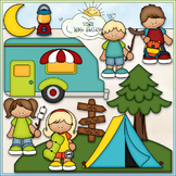 Gone Camping - CU Clip Art & B&W Set
