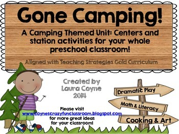 A Preschool Unit For Your Classroom Gone Camping