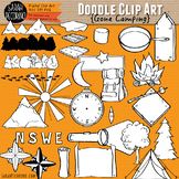Gone Camping Doodle Clip Art Collection
