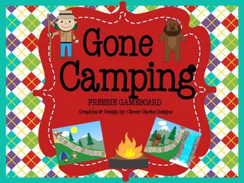 Gone Camping Game Board
