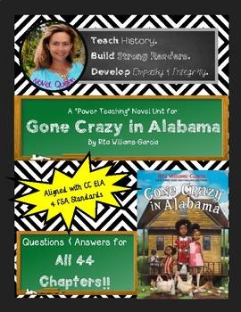 Gone Crazy in Alabama Novel Unit--Standard Edition