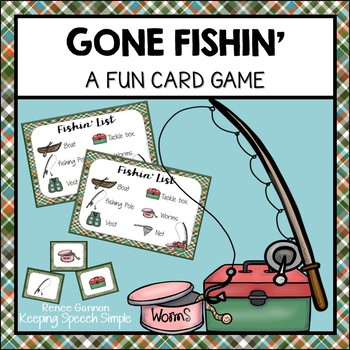 Vocabulary Games for Early Learners - Fishing Themed