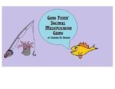 Gone Fishin' Decimal Multiplication Game
