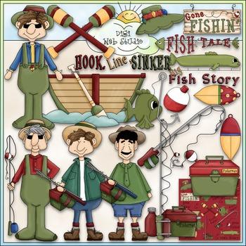 Gone Fishin' Clip Art - Fishing Clip Art - CU Clip Art & B&W