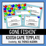 Gone Fishin' Koosh Ball Game Template - For ALL Ages and Subjects