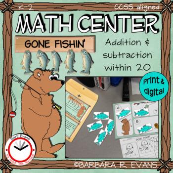 FOREST ANIMALS: Forest Activity, Math Center, Addition, Subtraction