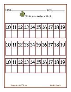 Gone Fishin' Math numbers