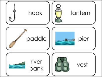 Gone Fishin' Picture Word Flash Cards.