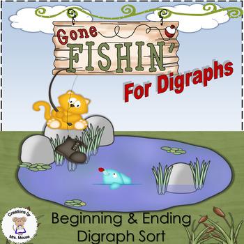 Phonics-Digraphs - Gone Fishin'
