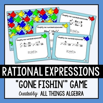 Operations with Rational Expressions Gone Fishin' Game