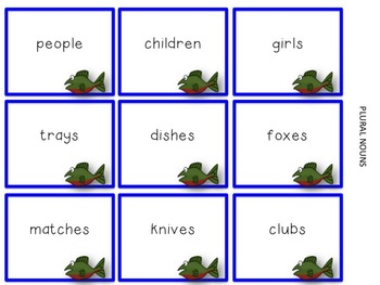 Gone Fishing: A matching game using common/proper and singular/plural nouns)
