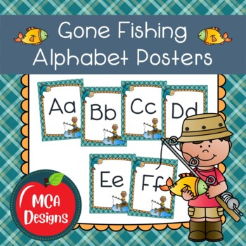 Gone Fishing - Alphabet Posters