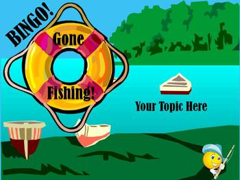 Gone Fishing ! Bingo Template